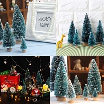 Künstlicher Weihnachtsbaum Christmas Tree Miniatur Weihnachtsdeko Klein Tisch Christmasbaum Mini Tannenbaum Weihnachts Baum Dekoration Geschenk Tischdeko, DIY Schaufenster ( Mini Weihnachtsbaum 34pcs) - 8