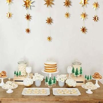 Künstlicher Weihnachtsbaum Mini Grün Tannenbaum Miniatur Klein Tisch Christmasbaum Mini Weihnachts Baum Dekoration Geschenk Tischdeko, DIY, Schaufenster (Grün Künstlicher Weihnachtsbaum, 6.5cm-12pcs) - 2