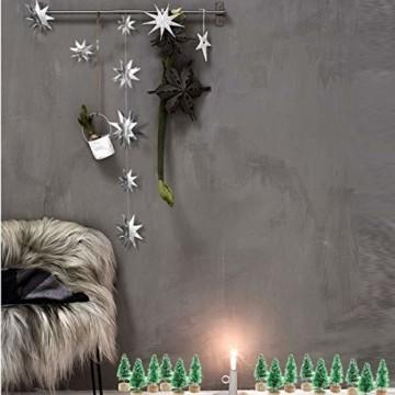 Künstlicher Weihnachtsbaum Mini Grün Tannenbaum Miniatur Klein Tisch Christmasbaum Mini Weihnachts Baum Dekoration Geschenk Tischdeko, DIY, Schaufenster (Grün Künstlicher Weihnachtsbaum, 6.5cm-12pcs) - 4