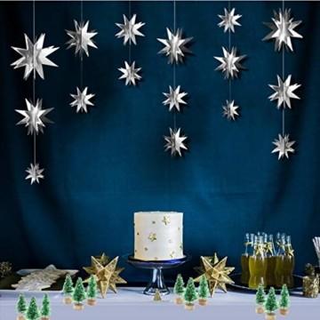Künstlicher Weihnachtsbaum Mini Grün Tannenbaum Miniatur Klein Tisch Christmasbaum Mini Weihnachts Baum Dekoration Geschenk Tischdeko, DIY, Schaufenster (Grün Künstlicher Weihnachtsbaum, 6.5cm-12pcs) - 7