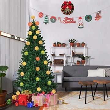 Kugel Lichterkette, DeepDream Cotton Ball Lichterkette 4.5m 20 LED Baumwollkugeln Lichterkette Bälle Lichterkette für Zimmer, Balkon, Vorhang, Hochzeit, Party (Weiß, EU Stecker) - 3