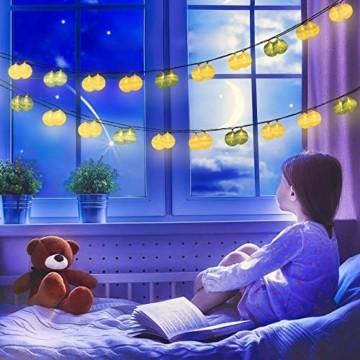 Kugel Lichterkette, DeepDream Cotton Ball Lichterkette 4.5m 20 LED Baumwollkugeln Lichterkette Bälle Lichterkette für Zimmer, Balkon, Vorhang, Hochzeit, Party (Weiß, EU Stecker) - 5