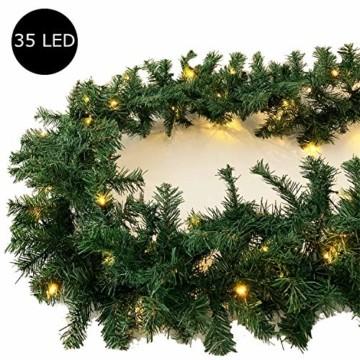 L-XXL Weihnachtsbeleuchtung Girlande beleuchtet Tannengirlande 35/70/100 LED Lichterkette 270/540/810 cm Weihnachten innen und außen, Tannengirlanden:L - 2
