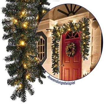 L-XXL Weihnachtsbeleuchtung Girlande beleuchtet Tannengirlande 35/70/100 LED Lichterkette 270/540/810 cm Weihnachten innen und außen, Tannengirlanden:L - 4