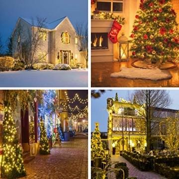 Led Lichterkette 35m 300led Warmweiße Weihnachtslichter für Drinnen und Draußen Verwenden IP44 Wasserdichte Lichterkette Außen mit 8 Beleuchtungsmodi für Garten und Weihnachtsdekoration - 2