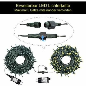 Led Lichterkette 35m 300led Warmweiße Weihnachtslichter für Drinnen und Draußen Verwenden IP44 Wasserdichte Lichterkette Außen mit 8 Beleuchtungsmodi für Garten und Weihnachtsdekoration - 3