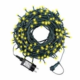 Led Lichterkette 35m 300led Warmweiße Weihnachtslichter für Drinnen und Draußen Verwenden IP44 Wasserdichte Lichterkette Außen mit 8 Beleuchtungsmodi für Garten und Weihnachtsdekoration - 1
