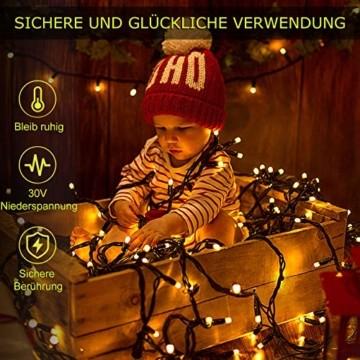 Led Lichterkette 35m 300led Warmweiße Weihnachtslichter für Drinnen und Draußen Verwenden IP44 Wasserdichte Lichterkette Außen mit 8 Beleuchtungsmodi für Garten und Weihnachtsdekoration - 4