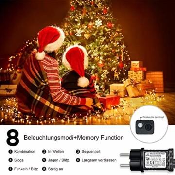 Led Lichterkette 35m 300led Warmweiße Weihnachtslichter für Drinnen und Draußen Verwenden IP44 Wasserdichte Lichterkette Außen mit 8 Beleuchtungsmodi für Garten und Weihnachtsdekoration - 5