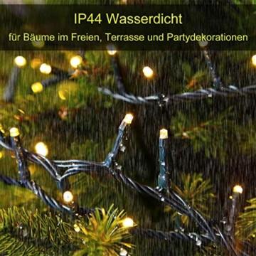 Led Lichterkette 35m 300led Warmweiße Weihnachtslichter für Drinnen und Draußen Verwenden IP44 Wasserdichte Lichterkette Außen mit 8 Beleuchtungsmodi für Garten und Weihnachtsdekoration - 6