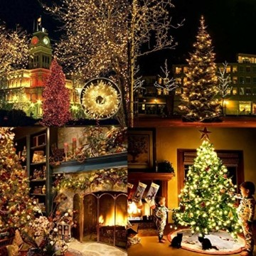 LED Lichterkette Außen Warmweiß 100M 1000 LEDs Elegear LED Weihnachtsbeleuchtung Strombetrieb Deko 8 Modi für Innen Außen Neujahr Weihnachten Geburtstag Feiertag Party Hotel Garten Hochzeit - 2