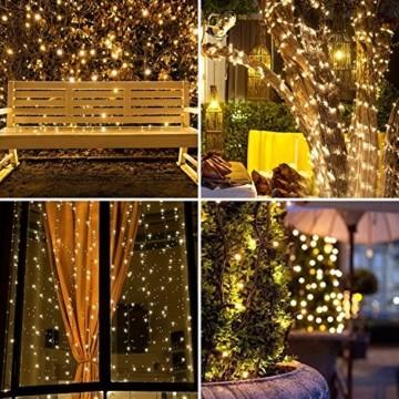 LED Lichterkette Außen Warmweiß 100M 1000 LEDs Elegear LED Weihnachtsbeleuchtung Strombetrieb Deko 8 Modi für Innen Außen Neujahr Weihnachten Geburtstag Feiertag Party Hotel Garten Hochzeit - 3