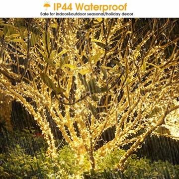 LED Lichterkette Außen Warmweiß 100M 1000 LEDs Elegear LED Weihnachtsbeleuchtung Strombetrieb Deko 8 Modi für Innen Außen Neujahr Weihnachten Geburtstag Feiertag Party Hotel Garten Hochzeit - 4