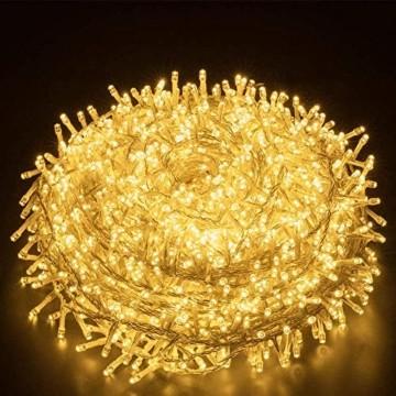 LED Lichterkette Außen Warmweiß 100M 1000 LEDs Elegear LED Weihnachtsbeleuchtung Strombetrieb Deko 8 Modi für Innen Außen Neujahr Weihnachten Geburtstag Feiertag Party Hotel Garten Hochzeit - 1