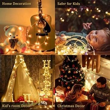 LED Lichterkette Außen Warmweiß 100M 1000 LEDs Elegear LED Weihnachtsbeleuchtung Strombetrieb Deko 8 Modi für Innen Außen Neujahr Weihnachten Geburtstag Feiertag Party Hotel Garten Hochzeit - 6