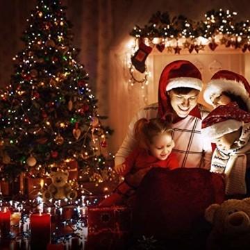 LED Lichterkette Batterie 40M 300 LEDs Elegear Lichterkette Außen Timer Memoryfunktion 8 Modi IP44 Wasserdicht Weihnachtsbeleuchtung Lichterkette Innen für Weihnachtsdeko Party Weihnachtsbaum 4 Farbe - 4