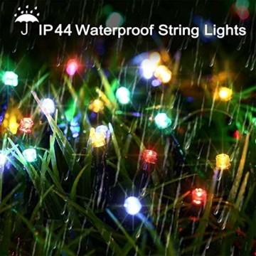 LED Lichterkette Batterie 40M 300 LEDs Elegear Lichterkette Außen Timer Memoryfunktion 8 Modi IP44 Wasserdicht Weihnachtsbeleuchtung Lichterkette Innen für Weihnachtsdeko Party Weihnachtsbaum 4 Farbe - 5