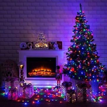 LED Lichterkette Batterie 40M 300 LEDs Elegear Lichterkette Außen Timer Memoryfunktion 8 Modi IP44 Wasserdicht Weihnachtsbeleuchtung Lichterkette Innen für Weihnachtsdeko Party Weihnachtsbaum 4 Farbe - 6