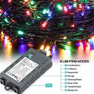 LED Lichterkette Batterie 40M 300 LEDs Elegear Lichterkette Außen Timer Memoryfunktion 8 Modi IP44 Wasserdicht Weihnachtsbeleuchtung Lichterkette Innen für Weihnachtsdeko Party Weihnachtsbaum 4 Farbe - 7