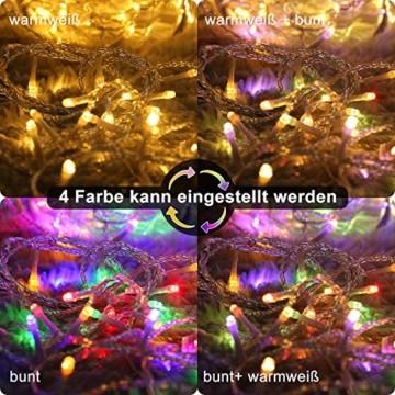 LED Lichterkette Innen, Ollny 10M 100 LED Lichterketten für zimmer, Warmweiß und Bunt, Dimmbar Fairy String Lights für Innen Outdoor Weihnachten Party Garten Hochzeit Deko - 2