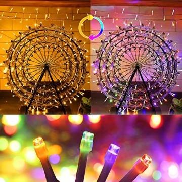 LED Lichterkette Innen, Ollny 10M 100 LED Lichterketten für zimmer, Warmweiß und Bunt, Dimmbar Fairy String Lights für Innen Outdoor Weihnachten Party Garten Hochzeit Deko - 4