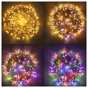 LED Lichterkette Innen, Ollny 10M 100 LED Lichterketten für zimmer, Warmweiß und Bunt, Dimmbar Fairy String Lights für Innen Outdoor Weihnachten Party Garten Hochzeit Deko - 1