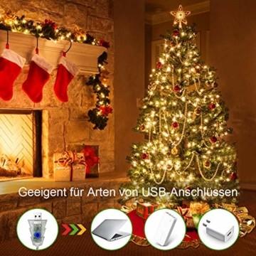 LED Lichterkette Innen, Ollny 10M 100 LED Lichterketten für zimmer, Warmweiß und Bunt, Dimmbar Fairy String Lights für Innen Outdoor Weihnachten Party Garten Hochzeit Deko - 6