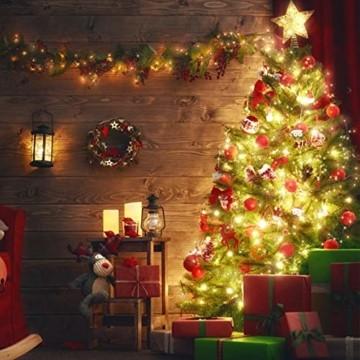 LED Lichterkette, TOPYIYI 12M Flexible Lichterkette Batterie mit 120 LED 8 Modi Fernbedienung Timer Wasserdichte Lichterketten für Zimmer, Weihnachten, Party, Hochzeit, Außen/Innen-Deko, Warmweiß - 7