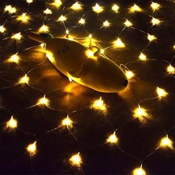 LED Lichternetz 3x2m 200 LEDs 8 Modi Lichterkettennetz für Weihnachten Partydekoration Wohnzimmer Kinderzimmer - 3