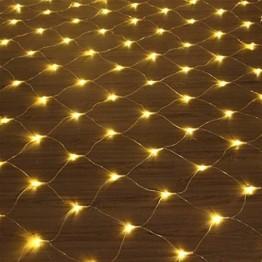 LED Lichternetz 3x2m 200 LEDs 8 Modi Lichterkettennetz für Weihnachten Partydekoration Wohnzimmer Kinderzimmer - 1