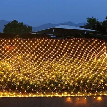 LED Lichternetz 3x2m 200 LEDs 8 Modi Lichterkettennetz für Weihnachten Partydekoration Wohnzimmer Kinderzimmer - 4