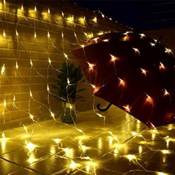 LED Lichternetz 3x2m 200 LEDs 8 Modi Lichterkettennetz für Weihnachten Partydekoration Wohnzimmer Kinderzimmer - 5