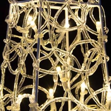 LED Pyramide Lichterkegel – Beleuchtung für Weihnachten innen außen – Acryl-Figur mit Trafo IP44 Timer 60 LED warm-weiß 90 cm hoch Xmas-Deko - 2