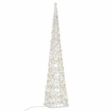 LED Pyramide Lichterkegel – Beleuchtung für Weihnachten innen außen – Acryl-Figur mit Trafo IP44 Timer 60 LED warm-weiß 90 cm hoch Xmas-Deko - 1