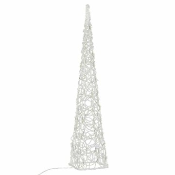 LED Pyramide Lichterkegel – Beleuchtung für Weihnachten innen außen – Acryl-Figur mit Trafo IP44 Timer 60 LED warm-weiß 90 cm hoch Xmas-Deko - 6