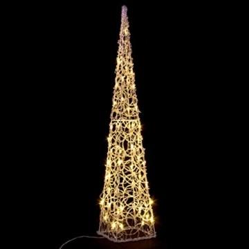 LED Pyramide Lichterkegel – Beleuchtung für Weihnachten innen außen – Acryl-Figur mit Trafo IP44 Timer 60 LED warm-weiß 90 cm hoch Xmas-Deko - 7