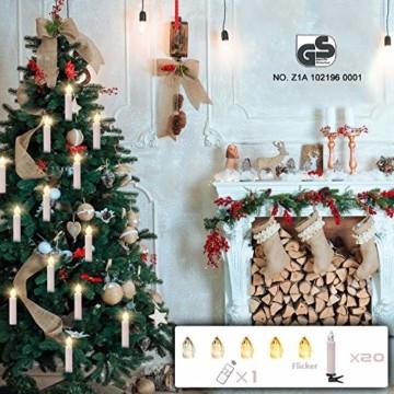 LED Weihnachtskerzen Kabellos Kerzen Weihnachtsbaumkerzen Christbaumkerzen mit Fernbedienung Timer Kerzenlichter - 3