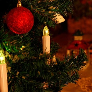 LED Weihnachtskerzen Kabellos Kerzen Weihnachtsbaumkerzen Christbaumkerzen mit Fernbedienung Timer Kerzenlichter - 5