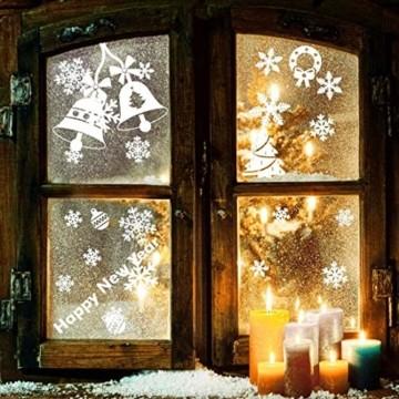 LessMo Weihnachtsfenster Aufkleber, 284 Pcs Fensterdeko Weihnachten, Party Neujahrsbedarf, DIY-Dekorationen für Türen, Fenster und Vitrinen, Weihnachten Theme Party, PVC Statische Aufkleber - 2