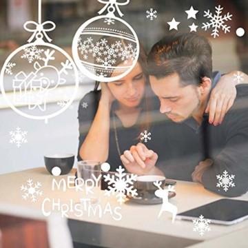 LessMo Weihnachtsfenster Aufkleber, 284 Pcs Fensterdeko Weihnachten, Party Neujahrsbedarf, DIY-Dekorationen für Türen, Fenster und Vitrinen, Weihnachten Theme Party, PVC Statische Aufkleber - 3