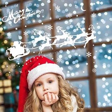LessMo Weihnachtsfenster Aufkleber, 284 Pcs Fensterdeko Weihnachten, Party Neujahrsbedarf, DIY-Dekorationen für Türen, Fenster und Vitrinen, Weihnachten Theme Party, PVC Statische Aufkleber - 7