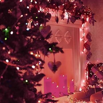 Lichterkette 500 LED 12.5m/41 ft Weihnachtsbaum beleuchtung, Lichtkette innen außen Für Weihnachten/Weihnachtslichter/Hochzeiten/Partys/Weihnachtsdekorationen rot - Grün Kabel - 3