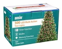 Lichterkette 500 LED 12.5m/41 ft Weihnachtsbaum beleuchtung, Lichtkette innen außen Für Weihnachten/Weihnachtslichter/Hochzeiten/Partys/Weihnachtsdekorationen rot - Grün Kabel - 1
