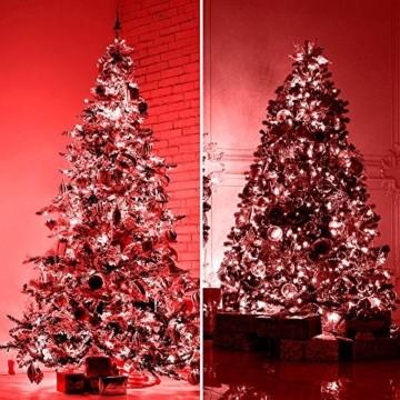 Lichterkette 500 LED 12.5m/41 ft Weihnachtsbaum beleuchtung, Lichtkette innen außen Für Weihnachten/Weihnachtslichter/Hochzeiten/Partys/Weihnachtsdekorationen rot - Grün Kabel - 5