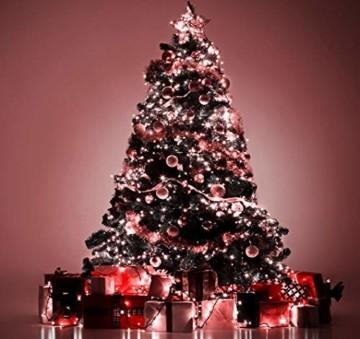 Lichterkette 500 LED 12.5m/41 ft Weihnachtsbaum beleuchtung, Lichtkette innen außen Für Weihnachten/Weihnachtslichter/Hochzeiten/Partys/Weihnachtsdekorationen rot - Grün Kabel - 8