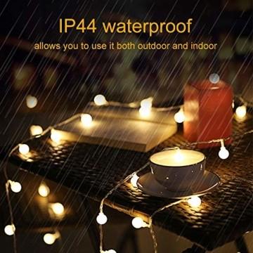 Lichterkette Außen Batterie 10M, Infankey 100LED Led Lichterkette mit Batterie/USB mit Fernbedienung, 8 Modi& Timing-Funktion, IP44 Wasserdicht, lichterkette batterie Perfekt für Garten, Partys - 6