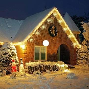 Lichterkette Feuerwerk, 120 LED Lichterketten Warmweiß Batteriebetrieben Fernbedienung DIY Feuerwerk Licht Kupferdraht Wasserdicht 8 Modi Beleuchtungs für Innen Außen Deko Weihnachten Hochzeit Party - 5