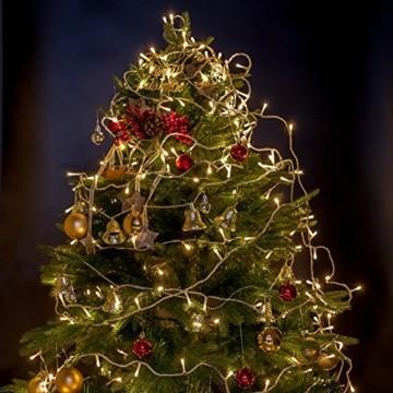 Lichterkette WISD 200 LED 23M Warmweiss Innen und Außen LED Beleuchtung mit EU Stecker auf Transparent Kabel für Weihnachten Garten Festival Party Hochzeit Dekoration Weihnachtsbaum Deko - 2