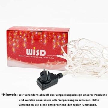 Lichterkette WISD 200 LED 23M Warmweiss Innen und Außen LED Beleuchtung mit EU Stecker auf Transparent Kabel für Weihnachten Garten Festival Party Hochzeit Dekoration Weihnachtsbaum Deko - 9