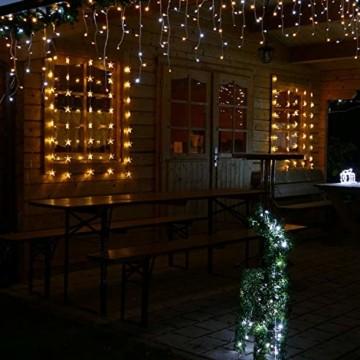 Lichtervorhang 1m 40 Sterne LED warmweiß beleuchtet Lichterkette für Fenster Weihnachten - 2